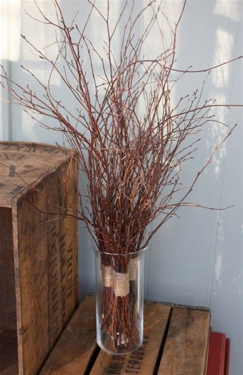 Twigs For Vases by Twigs In Cylinder Vase Decorating