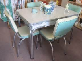 cracked table and chairs vintage kitchen