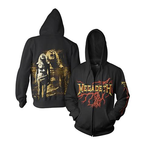 megadeth zip up hoodie musictoday superstore