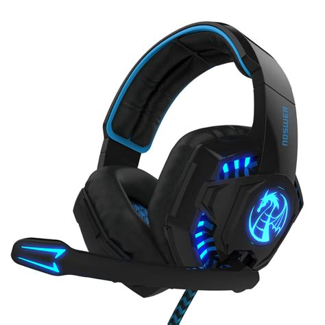 Headset Mic Gaming Noswer I8 Led Stereo Ear Headphones Headband Gaming