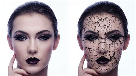 makeup psd templates for photoshop create an awesome cracked skin effect in photoshop youtube