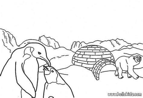 coloring pages arctic animals ice floe coloring pages hellokids com