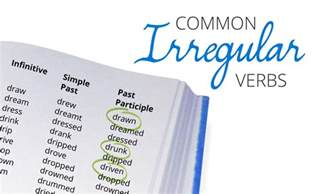 an irregular verbs list free pdf