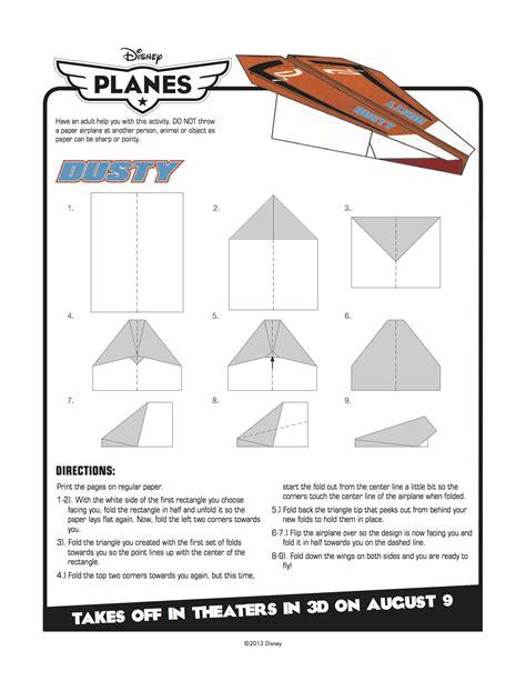 printable paper airplane crafts disney planes printable dusty paper airplane craft