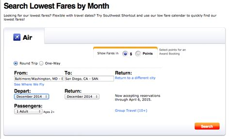 Southwest Deal Calendar Search Results For Southwest Airlines Low Fare Calendar