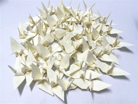 Ivory Origami Paper - origami paper cranes 1000 3 origami cranes ivory