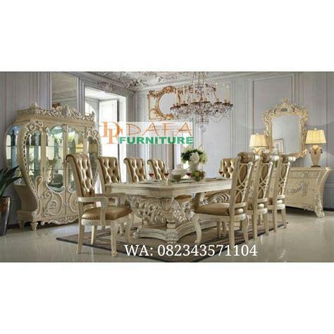 Kursi Meja Makan Ukir Mewah Jepara set meja kursi makan mewah ukir jepara klasik terbaru