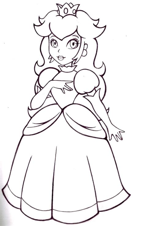Free Princess Peach Coloring Pages For Kids Princess Coloring Pages For Free