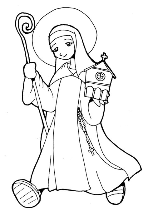 Catholic Saint Coloring Pages Az Coloring Pages St Coloring Page Catholic