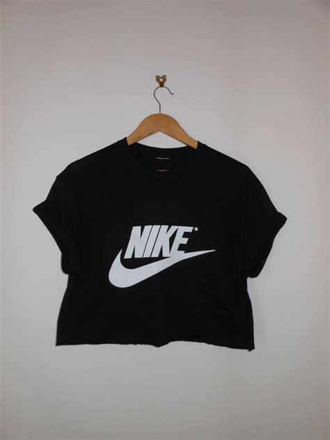 nike best classic black nike swag style crop top tshirt fresh