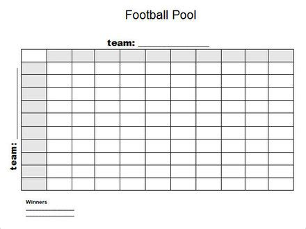 bowl football squares template football betting
