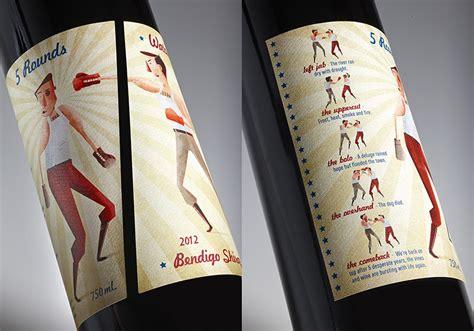label design melbourne 5 rounds shiraz by water wheel wines watts design