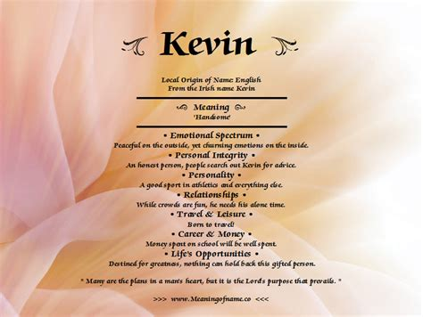 meaning name kevin meaning of name