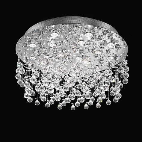 Franklite Constellation Modern Crystal Flush Ceiling Light Constellation Ceiling Light