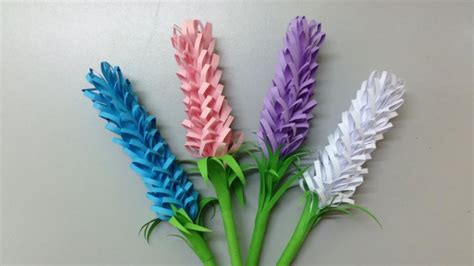 How To Make A Craft Paper Flower - how to make lavender paper flower easy origami flowers