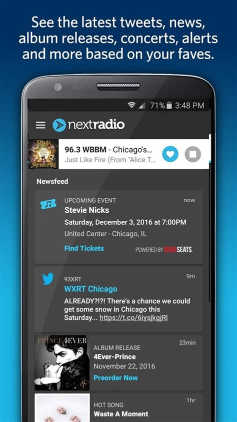 real time now playing feed fm radio nextradio free live fm radio android apps on google play