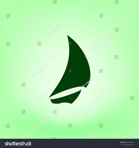 sailboat waves icon sailing logo yacht on waves vector stock vector 580058995