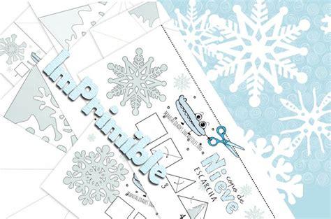 plantilla copos navidad como hacer copos nieve de papel