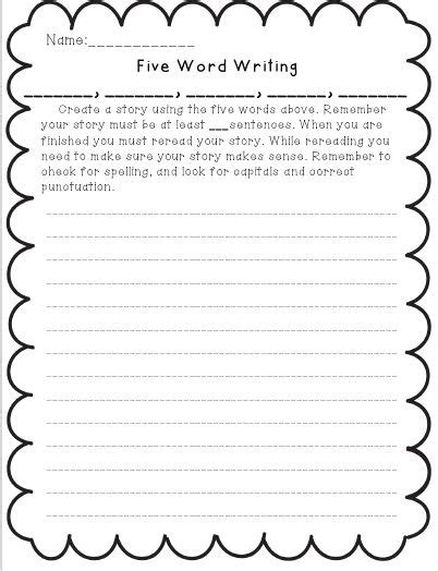 Writing Templates For 3rd Grade by Creative Writing Ideas 3rd Grade Writefiction581 Web Fc2