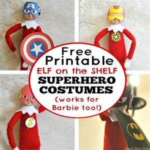 free printable on the shelf costumes