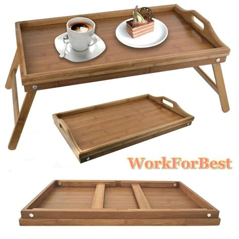 breakfast trays for bed folding breakfast tray legs serving lap over bed laptop