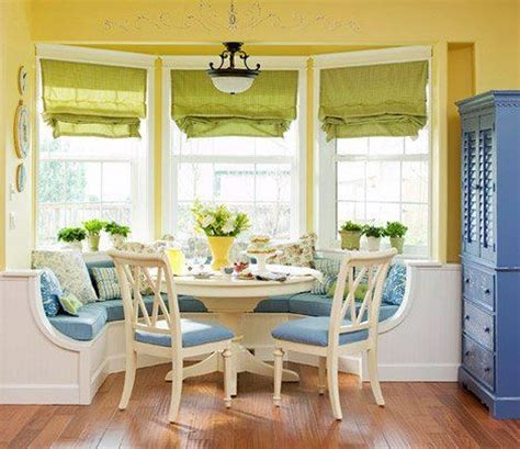 Table For Bay Window In Kitchen Bay Window Inspiration Built In Bench Table Chairs Kitchen Window Blinds