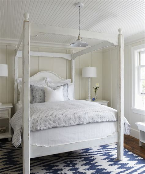 White Beadboard Bedroom Furniture by White Canopy Bed Cottage Bedroom Muskoka Living
