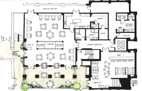 resto bar floor plan architecture design inspired by f plan