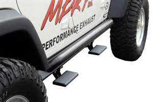 Jeep Wrangler Step Rails Mbrp Rock Rail Step Free Shipping From Autoanything