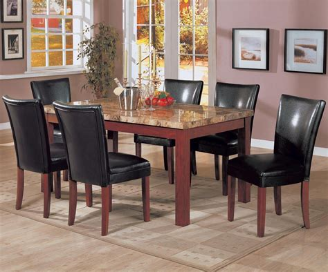 Brown Marble Dining Table Coaster 120311 Brown Marble Dining Table A Sofa Furniture Outlet Los Angeles Ca