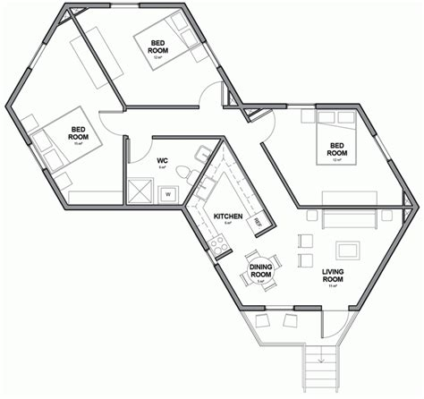 hexagonal house plans one story pictures to pin on