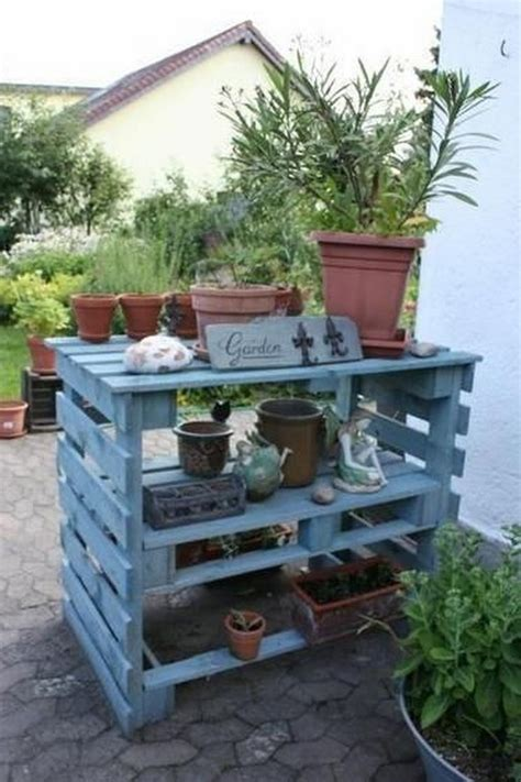 Cool Shelf Ideas by Pallet Wood Potting Bench Plans Recycled Things