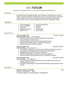Ap Clerk Sle Resume by Best Accounts Payable Specialist Resume Exle Livecareer