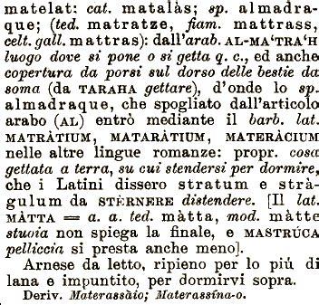 materazzo o materasso etimologia materassa materasso materazzo