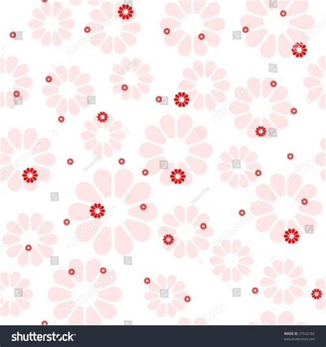 seamless pattern girly seamless girly floral pattern stock vector illustration