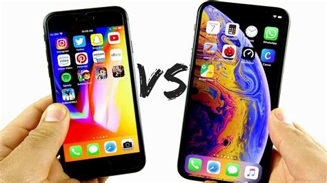iphone 8 vs iphone xs speed test