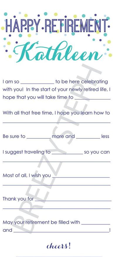 printable retirement puzzles happy retirement mad libs is a fun and easy activity for
