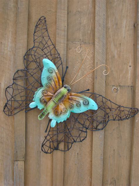 Wicker Metal Butterfly Mondus Distinction Garden Decor Butterfly Garden Wall