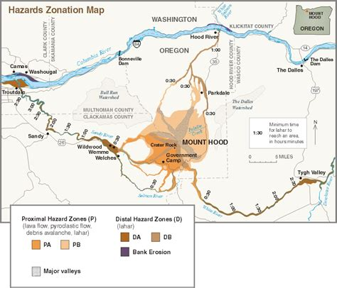 map of oregon volcanoes mount history and hazards of oregon s most recently