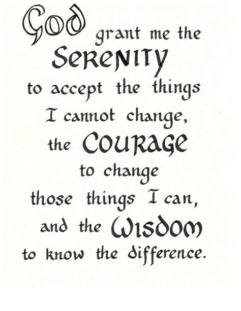 printable version of the serenity prayer serenity prayer by paperpath on deviantart