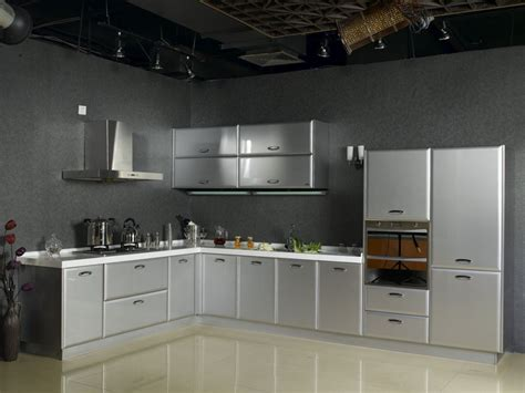 Cabinets In The Kitchen by The Futuristic Inspiration Of Metal Kitchen Cabinets