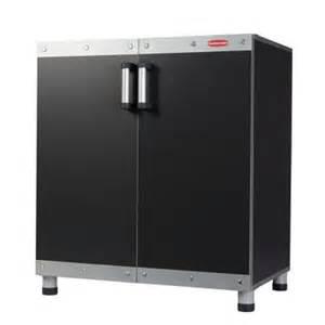 rubbermaid fasttrack 30 in garage base cabinet in black