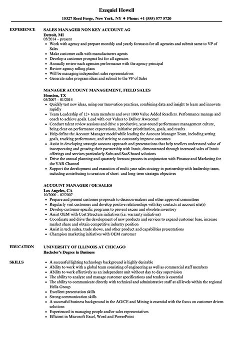 account manager resume sample monster com