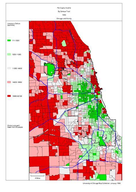 chicago ethnicity map chicago 1990 census maps