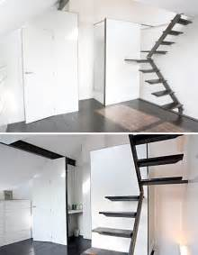 Low Space Stairs Design Steps To Saving Space 15 Compact Stair Designs For Lofts Urbanist
