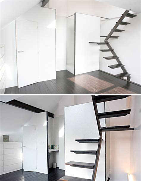 small house with stair room steps to saving space 15 compact stair designs for lofts