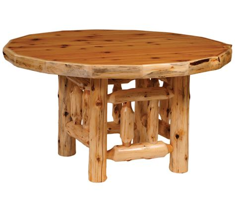 cedar dining room table 15020 round cedar log dining table minnesota rustic