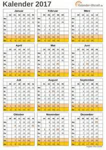 Ewiger Kalender 2017 Kalender Kalenderwochen 2017 Kalender 2017