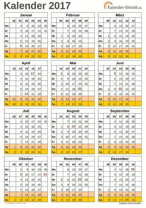 Kalender 2018 Zum Ausdrucken Eine Seite Kalender 2017 Zum Ausdrucken Kostenlos