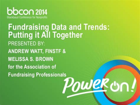 Putting It Together Brown by Fundraising Data Trends Putting It All Together